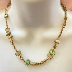 Abalone Chip Handcrafted Bead Necklace